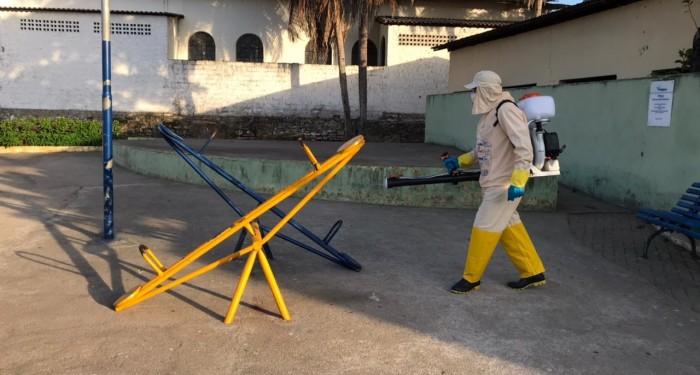 Prefeitura inicia desinfecção de espaços e prédios públicos