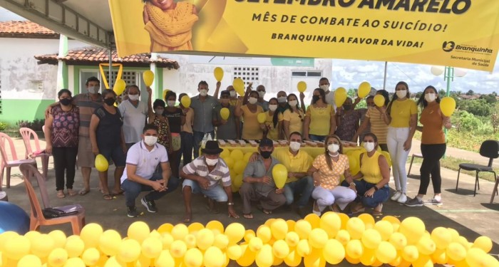 Saúde municipal realiza ação em alusão ao setembro amarelo