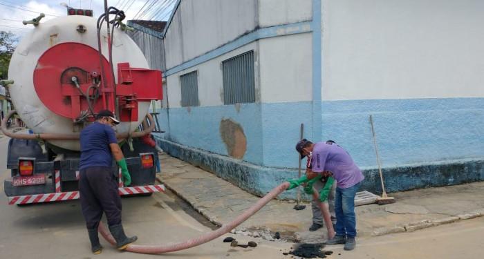Limpeza das galerias de águas pluviais é intensificada