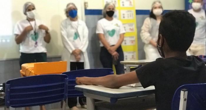 Com retomada das aulas presenciais, programa Saúde na Escola desenvolve atividades